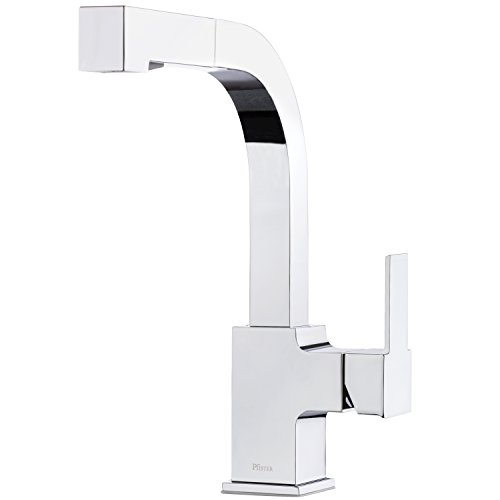 Pfister LG534-LPMC Arkitek Kitchen Faucet with Pull-Out Sprayhead, Polished ()