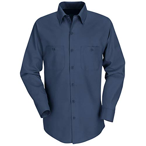 Red Kap 3X Navy 4.25 Ounce Polyester/Cotton Shirt With Button Closure by BULWARKRED KAP (Image #1)