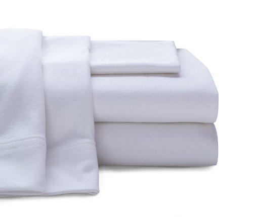 BALTIC LINEN COMPANY Cotton Jersey Sheet Set, Full, White