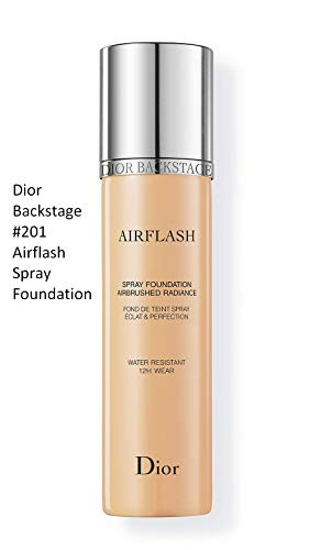 Christian Dior Backstage Airflash Spray Foundation, 201 Linen, 2.3 Ounce, Clean