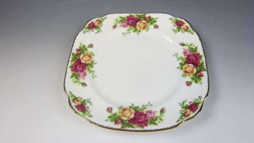 Royal Albert OLD COUNTRY ROSES Square Salad Plate EXCELLENT
