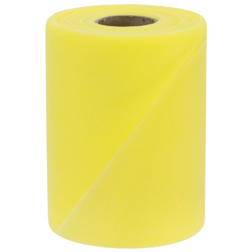 Falk Fabrics Tulle Spool, 6-Inch by 100-Yard, Lemon