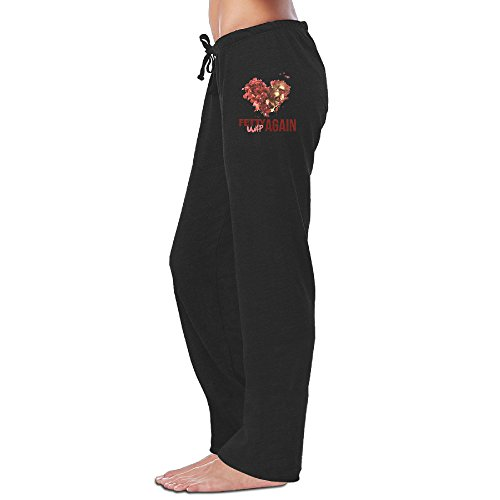 Fetty Wap Again LYRICS Hip-Hop Womens Drawstring Sweatpants Cool Pants
