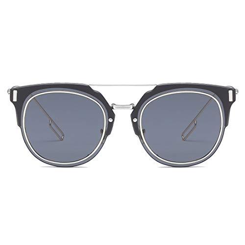 Lens Color Black et 100 Lunettes Femmes Lens Sakuldes Soleil Silver Gray de Blue pour polarisées UV400 Frame Protection Hommes Frame P1PZqxCw