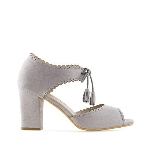 Borlas 42 Ante Gris 32 sandalias Pequeñas tallas am5331 Y 45 Para Grandes Andres Mujer 35 Machado qO41nt