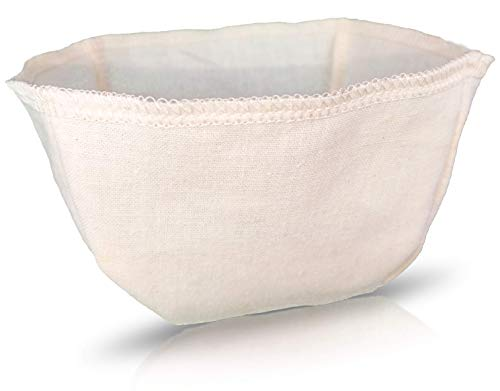 Cloth Reusable Basket Coffee Filter (Size #4) - Made in Canada of Hemp and Organic Cotton - Zero Waste, Eco-Friendly, Natural Fi