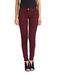 Suko Jeans Women's Plaid Skinny Jeans -Tartan Pants - Power Stretch Denim