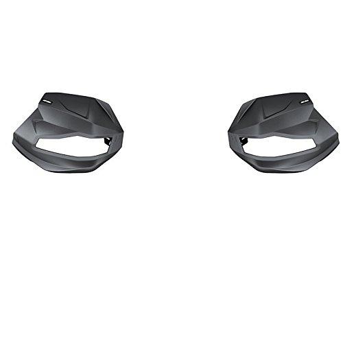 Ski Doo Handlebar (Ski-Doo New OEM Transparent Handlebar Hand Wind Air Deflector Extension Kit PAIR)