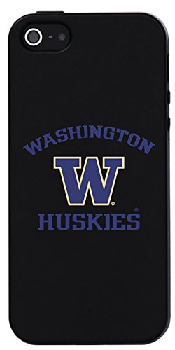University of Washington -W Huskies design on Black iPhone SE / 5s / 5 Guardian Case by Fanmade