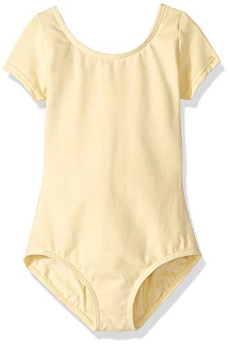 - Capezio Girls' Big Classic Short Sleeve Leotard, Butter, Medium