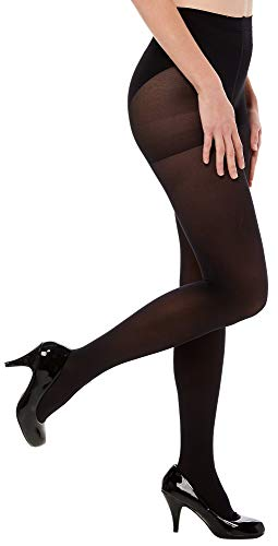Women's 2 Pairs Opaque Control Top Tights 40 Denier black ()