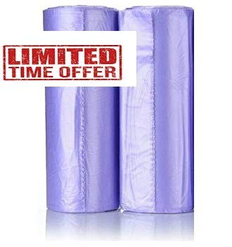 Maui Small Trash Bags, 4 Gallons Lavender Scented 120 Count Strong Trash Bags. for Office, Bathrooms, Bedroom, Home and Kitchen. Easily fit 4 Gallon Trash can Hard to Break Easy ()