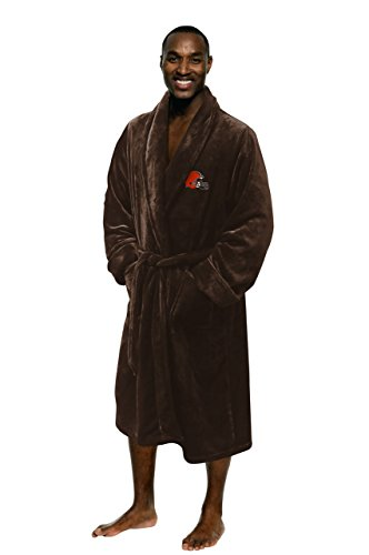 - The Northwest Company Officially Licensed NFL Cleveland Browns Men's Silk Touch Lounge Robe, Large/X-Large