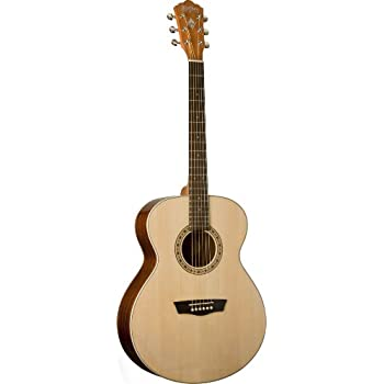 Washburn Harvest Series WG7S Acoustic Guitar, Natural Gloss
