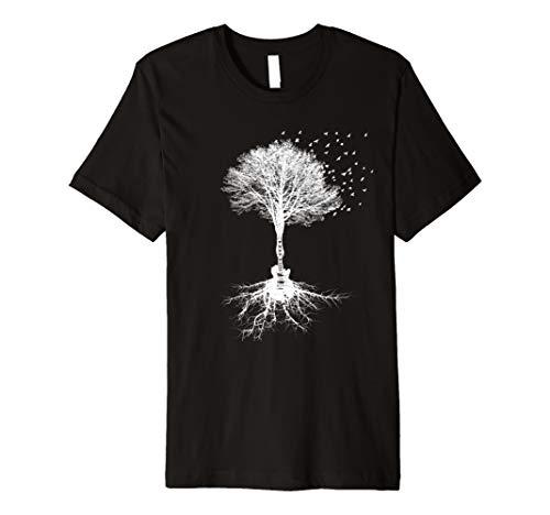 Acoustic Guitar Player Nature Tree, Birthday, Christmas Gift Premium T-Shirt