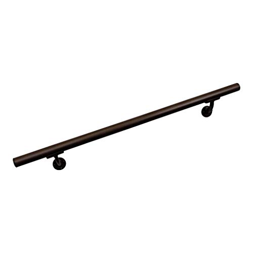Aluminum Handrail Direct CHR 4' Handrail Section with mounts - Brown Fine Texture by Aluminum Handrail Direct