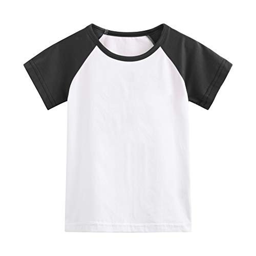 (Herbow Toddler Baby Girls Boys Raglan Tees for Short Sleeve Cotton T-Shirt Baseball Jesey)