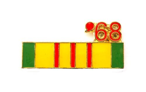 Vietnam Veteran 1968 Ribbon Lapel Hat Pin Marines Army Navy Air Force PPM796