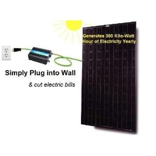 Do it yourself solar panel kits amazon plug in solar power kit 250 watt solar panel with micro grid tie inverter prewired and configured do it yourself diy solar ul 25 years warranty solutioingenieria Images