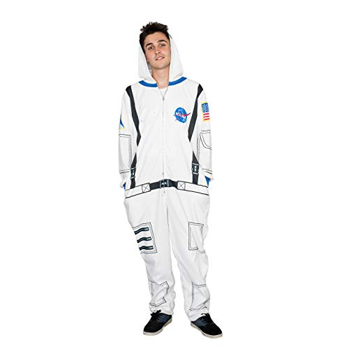 Mad Engine NASA Astronaut Costume Hooded Pajama Union Suit (Size 10/12)]()