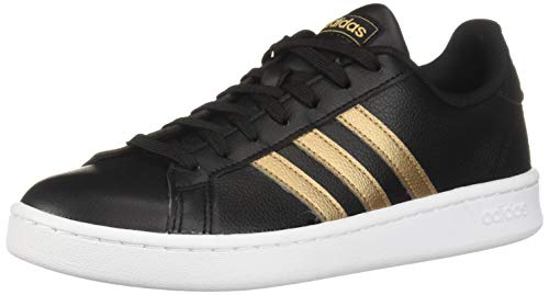adidas Women's Grand Court, Black/Copper Metallic/White, 7.5 M US