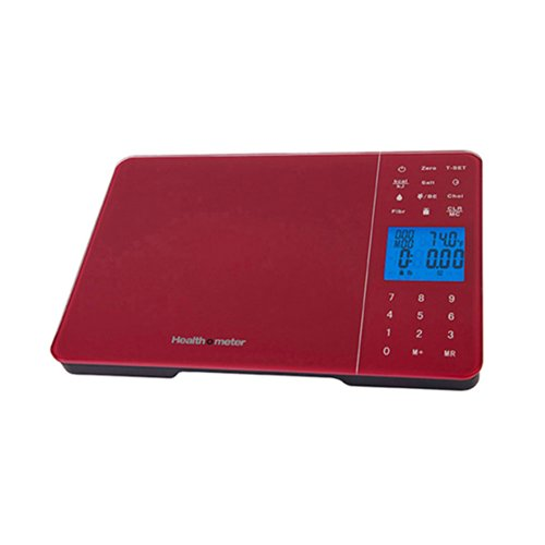 Health o meter HM5R Diet Tracking Digital Kitchen Scale 11Lb/5000Gm, Red (Health O Meter Glass Weight Tracking Digital Scale)