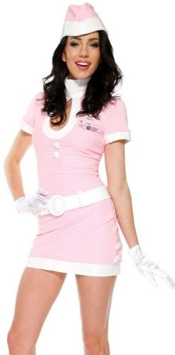 Coffee Tea Or Me Costumes (Forplay Women's Coffee Tea Or Me Adult Sized Costumes, Pink, Small/Medium)