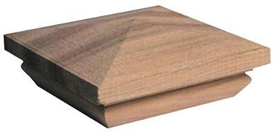 Woodway Products 870.1884 4-by-4-Inch Mahogany Pyramid Post Cap, 12-Pack, Mahogany