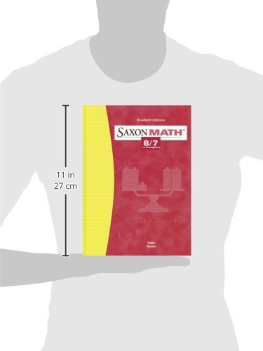 Saxon Math: 8/7 with Prealgebra, Student Edition 3rd Edition by Brand: SAXON PUBLISHERS (Image #1)