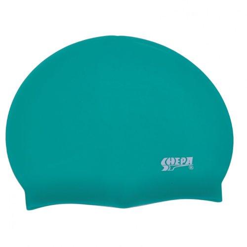 Bademütze Unisex Silikon Badekappe Erwachsene Schwimmkappe schwarz, rot, blau, gelb, pink, dunkelblau, türkis, Farbe: Grün, Größe: Einheitsgröße
