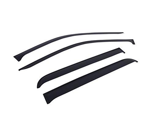 EGR 642755 SlimLine Tape-On WindowVisors Set of 4 Matte Black Finish SlimLine Tape-On WindowVisors Set of 4