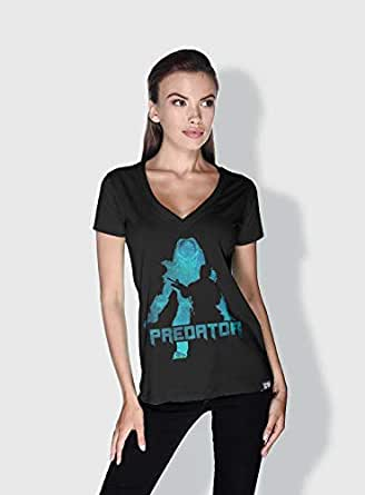 Creo Predator Movie Posters T-Shirts For Women - S, Black