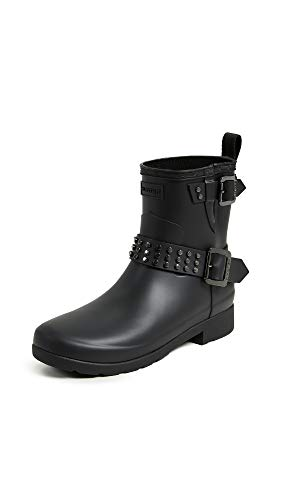 Biker Boots Refined Stud Womens Hunter Black Rain 0vXtxqvBw