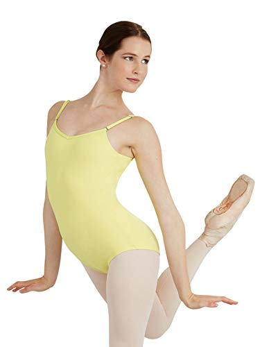 Capezio Camisole Leotard w/ Adjustable Straps - Size X-Large, Lemon Drop