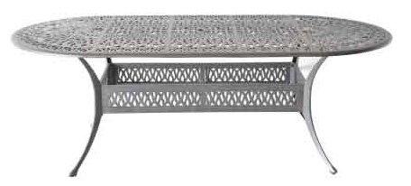 Tropitone Aluminum Oval Table - Heritage Outdoor Living Elisabeth Cast Aluminum 42
