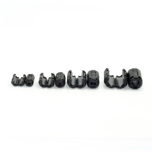 AUCH 8Pcs Magnetic Clip-on Ferrite Ring Core Black RFI EMI Noise Suppressor Cable Clip for 5mm//7mm//9mm//13mm Diameter Cable