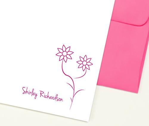 Personalized Girls Stationery Set, Cute Stationary Set, Personalized Notecards Girls, Set of 10 Personalized Note Cards with Envelopes, Pink Stationary Set (Personalized Stationery For Teachers)