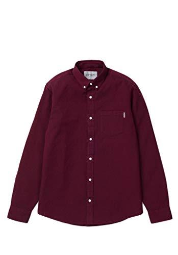 Wax s Madison Carhartt L Shirt Lunghe Camicia Maniche Uomo Mulberry zWpO4q