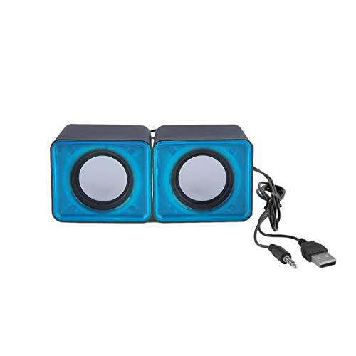 Zinniaya Portable USB 2.0 Multimedia Desktop Computer Notebook Mini Speaker Music Stereo Home Theater Party Speaker 3…