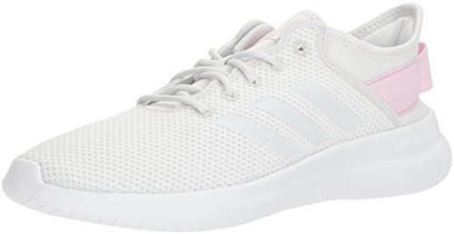 adidas NEO Women's CF Qtflex W Running Shoe, Crystal White/Crystal White/Aero Pink, 10 M US ()