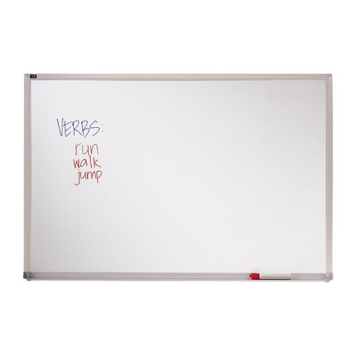 Quartet Standard Melamine Classroom Whiteboard, 2 x 3 Feet, Hanging System and Kit Included, Aluminum Frame (EMA203)