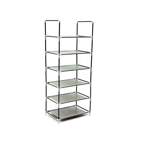 - Origami Steel Framed 6 Tier Multi Purpose Home or Garage Shelving Rack Stand