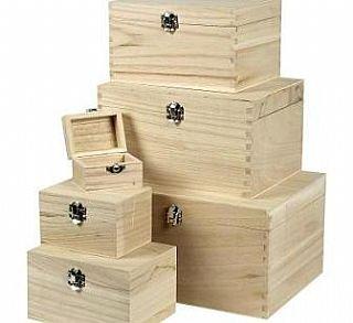 6 cajas de madera apilable para decorar las tallas de hasta 28 x 21 x 15 cm | Cajas de madera: Amazon.es: Hogar