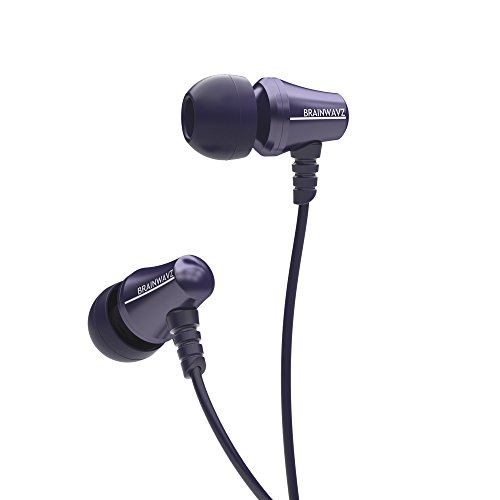 Brainwavz Jive Noise Isolating IEM IEM Earphones With Remote & Mic For Apple iPhones, iPad, iPod & Other iOS Devices (Blue-iOS)