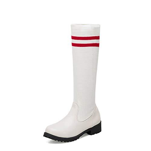 Basso Basso Basso da Women's Scarpe Donna Boots Boots Boots Boots White con da Donna Tacco YxZpFR