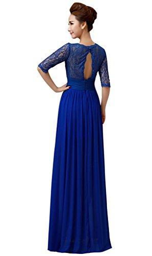 Para Ajustado Azul Drasawee Vestido Mujer 5YnxaxE1q