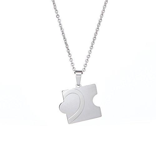 822bcd859c1d En venta Juego de 2 colgantes – Piezas de puzzle – Personalizados con el  NOMBRE – Regalos para parejas – Colgante y collar de plata – En acero  inoxidable ...