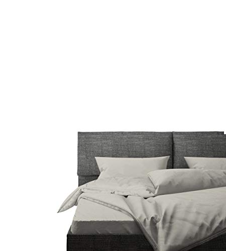 Linen Home 100% Cotton Percale Sheet Set, Silver, Full Size, Long-Staple Compact, 4 Piece - 1 Flat Sheet, 1 Fitted Sheet and 2 Pillowcases Deep Pocket Bedsheets, Crisp and Strong Percale Weave