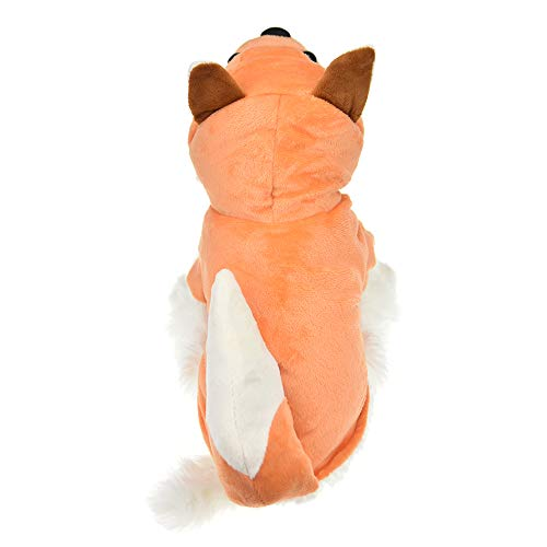 (MUYAOPET Fox Costume Outfits for Small Medium Dog Winter Fleece Pet Cat Coat Warm Jacket in Cold Weather Hoodie Clothes for Chihuahua Yorkie (XS(Bust 12.5