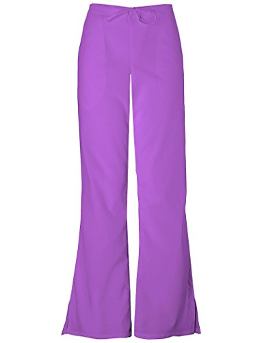 Cherokee Workwear Women's Natural Rise Flare Leg Scrub Pants XX-Large Petite Purple PaSSion by Cherokee